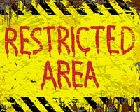 Restricted Area Enamel Sign Royalty Free Stock Images