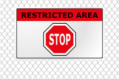 Restricted area fence Royalty Free Stock Photo