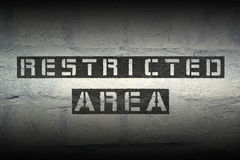 Restricted area GR Stock Images