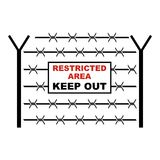 Restricted area icon, cartoon style Royalty Free Stock Images