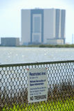 Restricted Area Kennedy Space Center Royalty Free Stock Photo