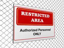 Restricted area notice Royalty Free Stock Photography