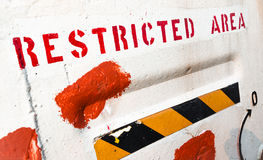 Restricted area notice Stock Images