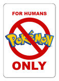 Restricted area for Pokemon Royalty Free Stock Photos