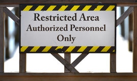 Restricted Area Sign Royalty Free Stock Photography