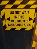 Restricted Clearance Area Stock Photos