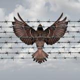 Restricted Freedom stock illustration
