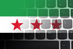 Restricted Internet access in Syria Stock Photo
