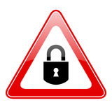 Restricted lock sign Stock Image