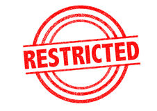 RESTRICTED Rubber Stamp Royalty Free Stock Image