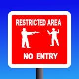 restricted tecken för område Arkivfoton