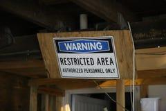 restricted tecken för område Royaltyfria Foton