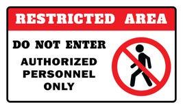 restricted tecken f?r omr?de royaltyfri illustrationer