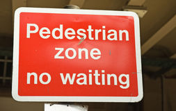 Restriction dans la zone piétonnière. Images stock