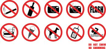 Restriction labels Stock Image
