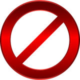 Restriction sign. Shiny metallic restriction sign - vector illustration Royalty Free Stock Photography