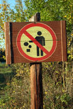 Restriction sign Royalty Free Stock Photo