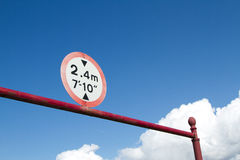 Restriction sign. Stock Photos