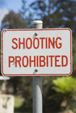 Restriction Sign shooting prohibited Stock Photos