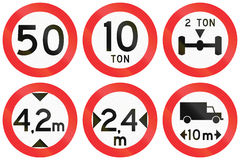 Restriction Signs In Chile Royalty Free Stock Photo