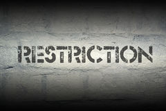 Restriction Royalty Free Stock Photography