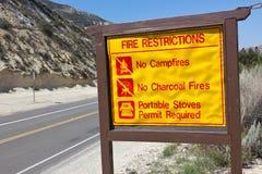 Restrictions du feu Photos libres de droits