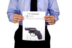 Restrictions on firearms Stock Image