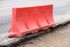 Restrictive block on road Royalty Free Stock Image