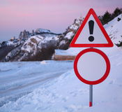 Restrictive road signs Stock Photo