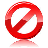 Restrictive sign Royalty Free Stock Photo