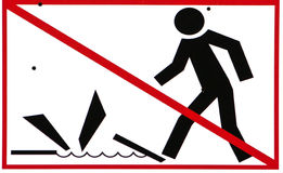 Restrictive sign Stock Images