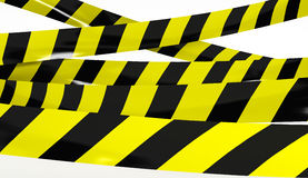 Restrictive tape yellow and black colors. Royalty Free Stock Image