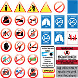 Restrictive and warning signs Stock Photography