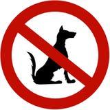 Restringido para cães Imagens de Stock Royalty Free