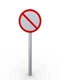 Restrinja o sinal ilustração stock