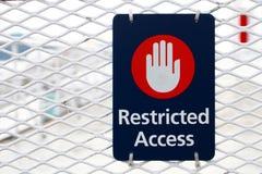 Restrited-Zugangs-Zeichen Lizenzfreie Stockbilder