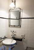 Restro style bathroom Royalty Free Stock Image