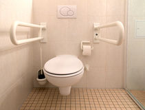 Restroom for disabled people Stock Photography