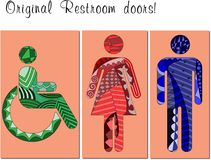 Restroom door Stock Image