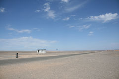 Restroom in gobi desert dunhuang china Stock Image
