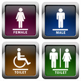 Restroom icon. S isolated over white Royalty Free Stock Photo