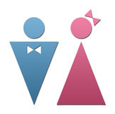 Restroom icon. S, male and female Royalty Free Stock Image