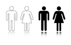 Restroom icon male and female Stock Images
