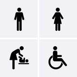 Restroom Icons Royalty Free Stock Photography