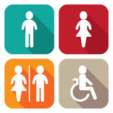 Restroom illustration Royalty Free Stock Photography