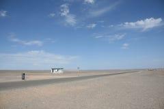 Restroom im Gobi-Wüste Dunhuang-Porzellan stockbild