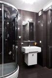 Restroom interior. Interior of new modern restroom with shower Stock Images