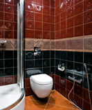 Restroom interior Stock Images
