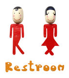 Restroom label. Resroom label on a white background Royalty Free Stock Image