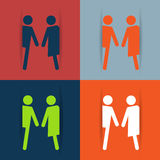 Restroom male and female sign vector illustration Stock Photos
